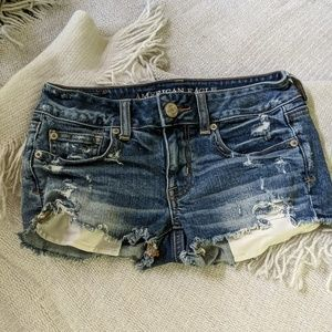 American eagle stretch shortie shorts